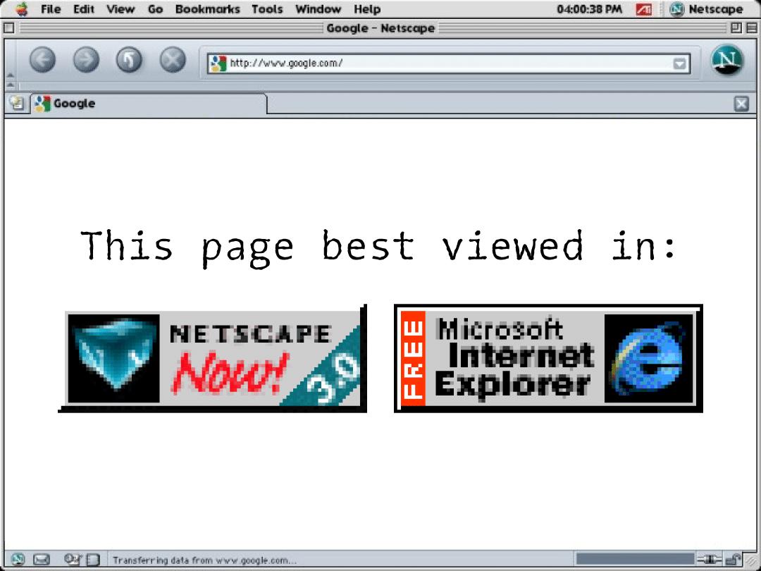 Browser Wars Best Viewed In Badges